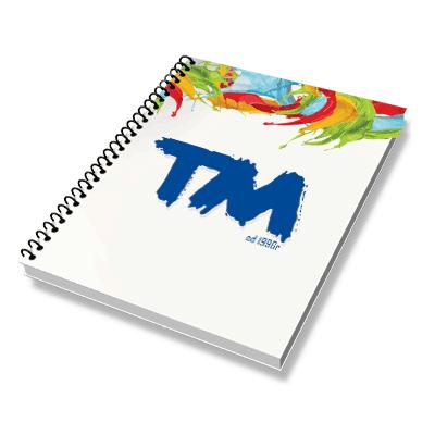 Notes kolorowy w oprawie spiralnej